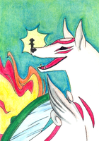 Ammy and Issun - ATC by wingedpaintbrush
