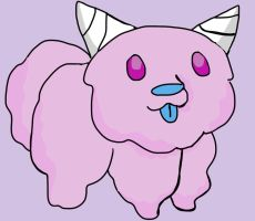 Cotten candy dog by Artdirector123