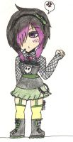 Gothic Girl :Adopted: by GaarasGurl123