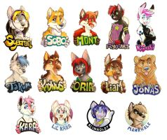 FWA 2012 - Everybody Else Badges by Tigsie