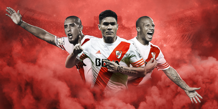 Maidana, Sanchez and Teo - Wallpaper River Plate by ignaxxx