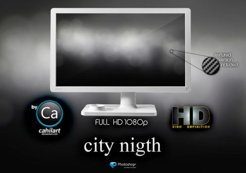 Wallpaper City Night by CaHilART