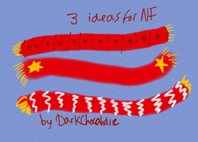 3 scarves for NF-NC by DarkChocaholic
