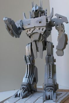 Optimus Prime Silver (unfinished) by RamageArt