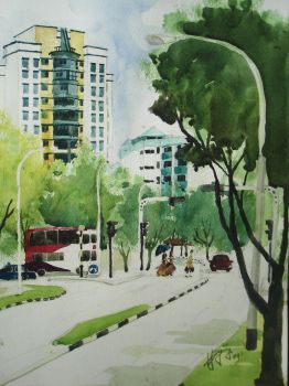 Neighbourhood street scene by ghying
