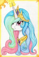 Princess Celestia by SparklySpectrum