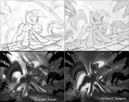 Twilight Battle sketch UPDATE by 14-bis