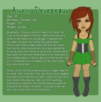Character Sheet:  Aiveni Devereaux by jesasaurus