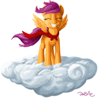 ATG Day 01: Scootaloo on a Cloud by da-Exile