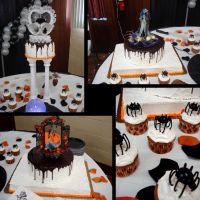 Halloween Wedding Cake by Erisana