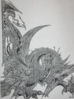 Graphite Dragon by ShadeOfInk