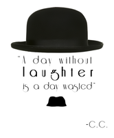 Charlie Chaplin Quote Tattoo by JoeyHawk11