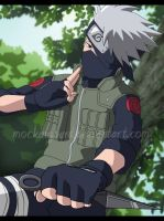 Kakashi In Trees by Mockingbyrd
