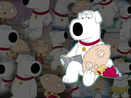 Brian and Stewie by corncob24