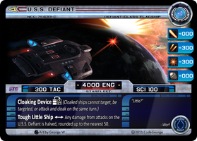 USS Defiant STO CCG Card by CodeGeorge