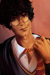 Bob Morley as James Potter by xMegalynx