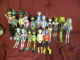 My MH doll Collection by Bowser14456