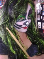 Me with Peter Criss Makeup by gurihere