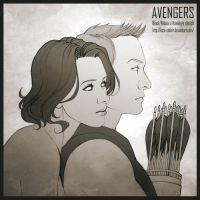 Black_Widow_x_Hawkeye____Sketch by Kota-Stoker