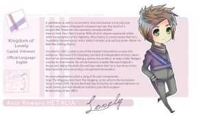 Kingdom of Lovely: OC Hetalia Bio by DocileGloom