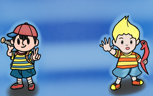 Ness and Lucas by Megalomaniacaly