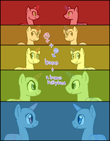[P2U] - Binary Pony Bases by Featheries