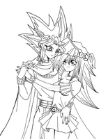 [Commission] Atem and Mana by Cleopatrawolf