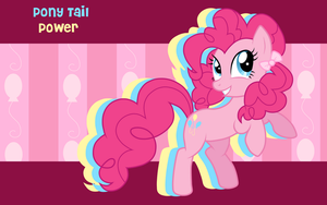 Pony Tail Power Pinkie Pie WP by AliceHumanSacrifice0