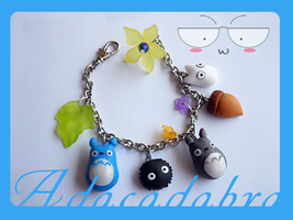 My Neighbor Totoro Bracelet by Adaralbion