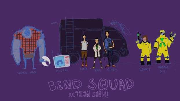 Bend Squad Action Show Character Design by HOTcodeHOT