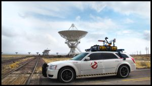 Ecto-1 at the VLA by Boomerjinks