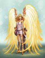 Beth, protecting angel by curlyhair