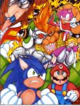 Sonic and Mario Team Up by StriderSyd