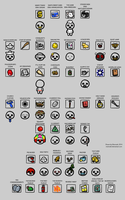 Binding of Isaac Fan Items by Memoski
