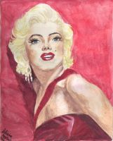 Marilyn Monroe in Red by lettym