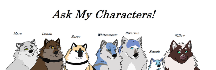 Ask My Characters by DragonWithAShotgun