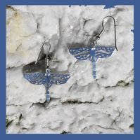 Silver Dragonfly Earrings by DragonsFlyDesigns