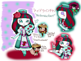 Anpanman OC- Maid Lainee-Chan and Ganache Ala Tart by dannichangirl