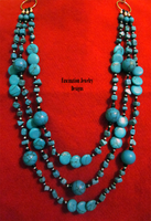 Turquoise Statement Necklace by BloodRed-Orchid