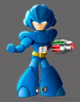 Mega Man Redesigned by albundyland