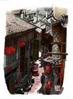 Old Town in Kunming by Dragon2524