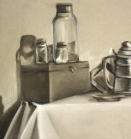 Charcoal Still Life by Dil3mma