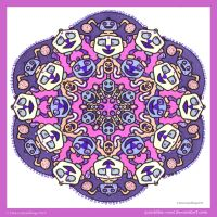Across A Crowded Room Mandala II by Quaddles-Roost