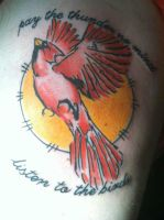 Cardinal Tattoo by AndehDulac