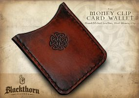 Card-wallet-mahogany by Blackthornleather