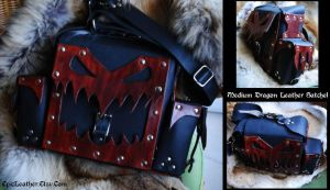 Medium Dragon Leather Satchel by Epic-Leather