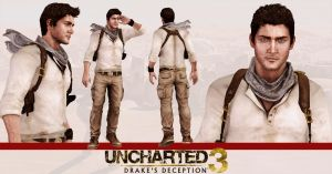 Uncharted 3 - Nathan Drake model release by konradM96