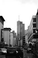 Frankfurt - Urban Street and Sky by UliInuzuka