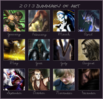 2013 Summary of Art by EjLowell