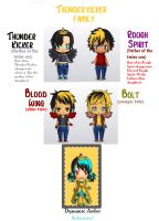 Thunder and Eletrica Big family by BlackCherry1994